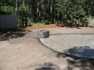 Interlocking Paver Patio with Firepit