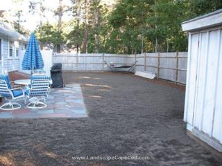 Paver patio construction project in West Harwich