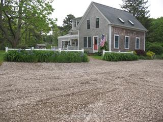 Landscape renovations on Queen Anne Road in Harwich by ML Enterprises.