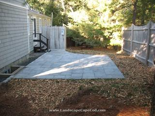 Paver Patio with Cobblestone Border in Chatham