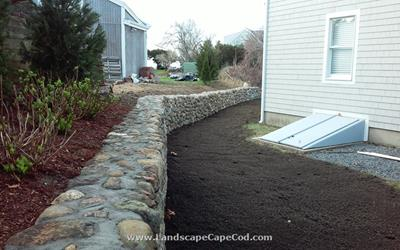 Click to view album: Natural Field Stone Retaining Wall