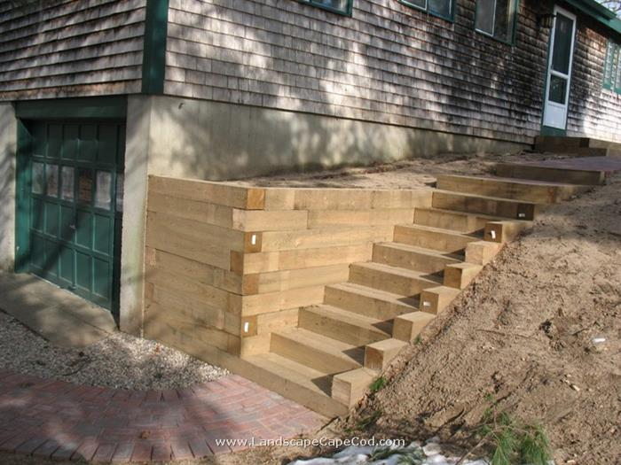 Timber Retaining Wall Amp Stairs