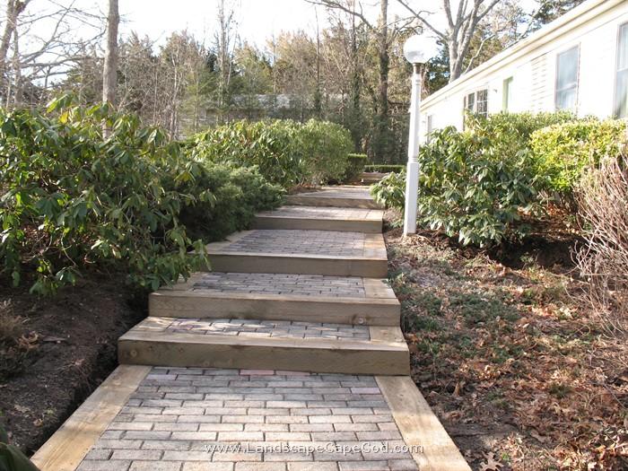 New Landscape Timber Steps