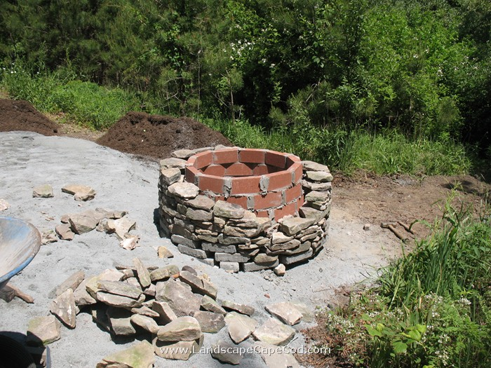 natural looking firepit be a yardigan firepits