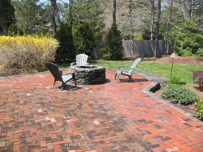 Viewing Album Red Brick Patio With A Fire Pit