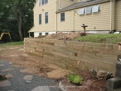 Click to view album: Timber Retaining Walls