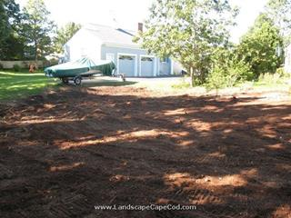 Landscape make over after home addition.