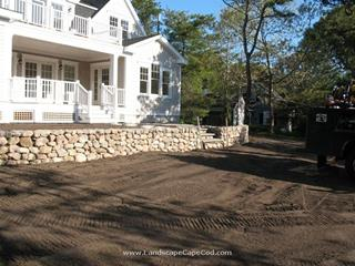 Fieldstone Wall in Chatham
