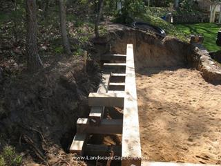 Pressure Treated Retaining Wall