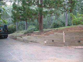 Retaining walls are used to terrace slopes and enlarge usable areas for outdoor recreation, patios, and driveways, and creating more usable space.