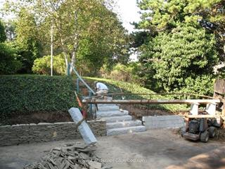 Setting Granite Steps