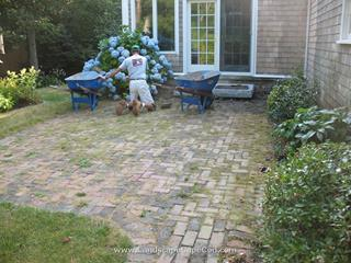 Brick patio deconstruction and rebuild.