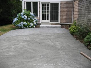 Stone dust patio base
