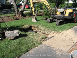 Driveway drainage installation in Chatham.