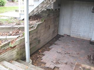 Timber Replacement with Stone Wall Under Deck In Harwich