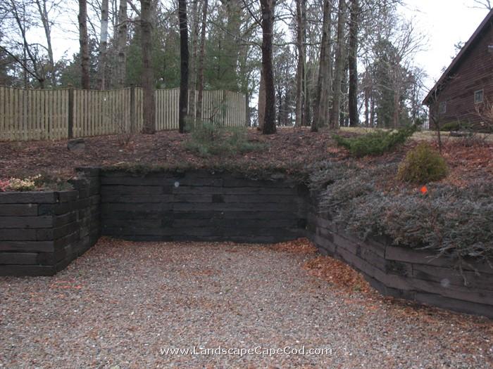 Old Railroad Tie Retaining Walls