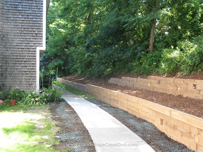 Viewing Al Timber Retaining Wall